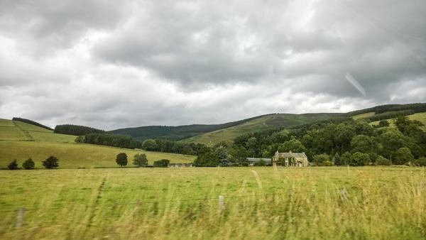 Moorfoot Hills Einsames Haus im Hügelland