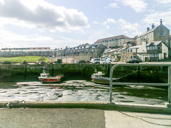 Seahouses-Hafen-Ebbe-Northumberland-Bootsfahrt