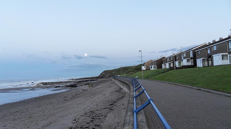 Spittal-Berwick Promenade mit Meer