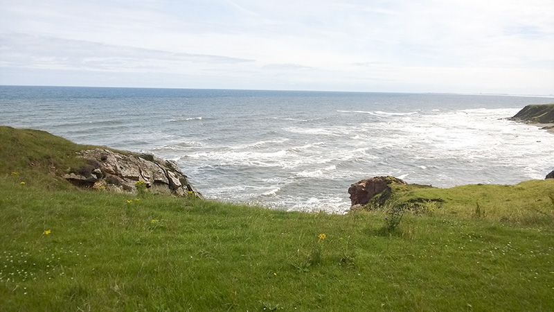 Spittal bei Berwick-upon-Tweed Küste, Felsenküstenspaziergang
